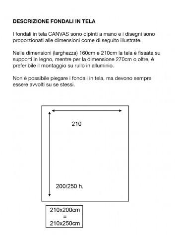 .                    D'APONTE FONDALE IN TELA SB 12-319 Natalizio