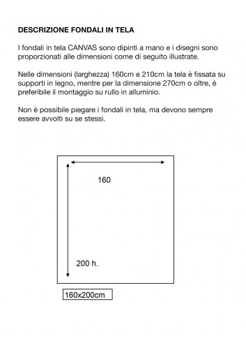 D'APONTE FONDALE IN TELA AD 12-336