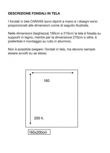 D'APONTE FONDALE IN TELA AD 12-328