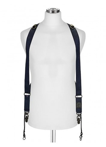 "BARBER SHOP Cross Body Strap ""SIDEBURNS"" S/M, Jeans Poly"