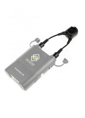 QUADRALITE Reporter 360 Powerpack 45 Adattatore Doppia Uscita equivalente Godox DB-02
