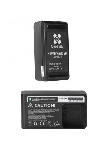 QUADRALITE Reporter 200 TTL PowerPack 29 Carica Batterie equivalente Godox C29