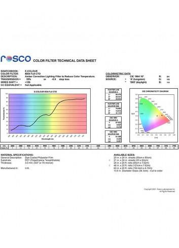 ROSCO Filtro Colorato 204 Full CT Arancio