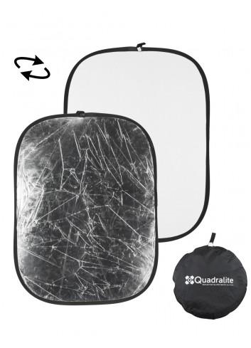 QUADRALITE Pannello Riflettente Argento/Bianco 120X180cm